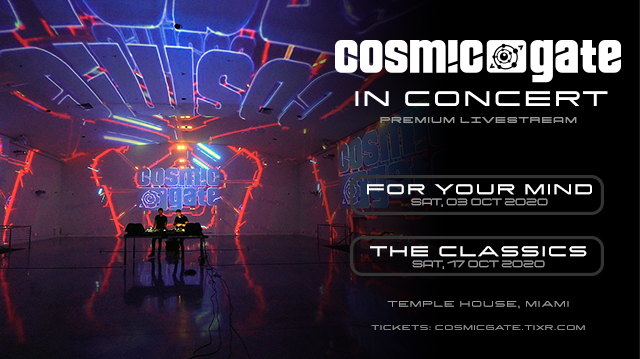 Cosmic Gate concert series - October 2020
