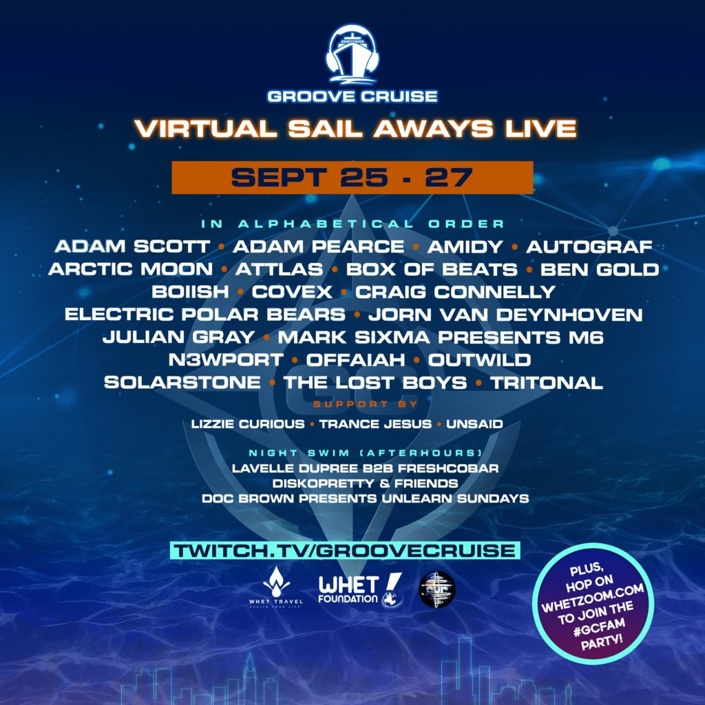 Groove Cruise Virtual Sail Aways-September