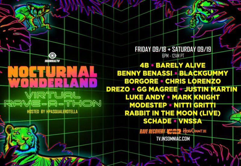 Nocturnal Wonderland 2020 Lineup