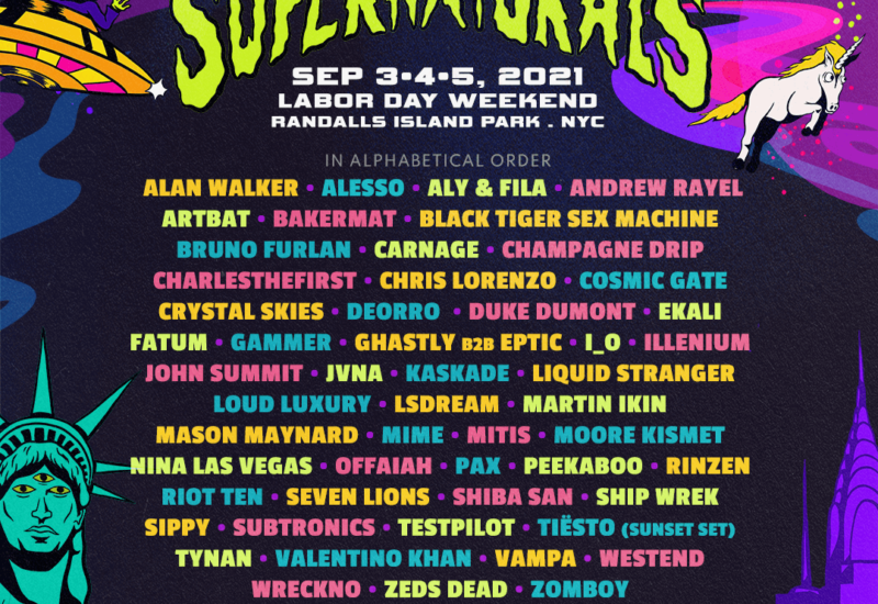Electric Zoo Supernaturals 2021 phase-one lineup