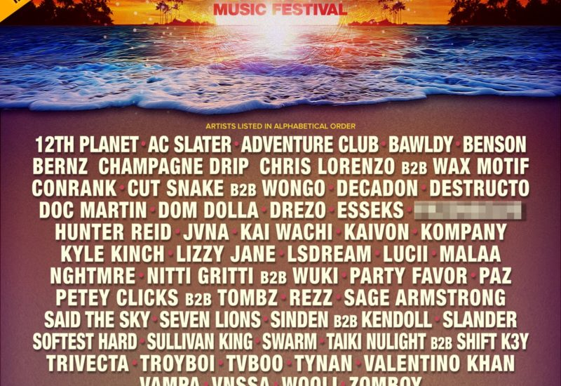 Sunset Music Festival 2021 phase-one lineup