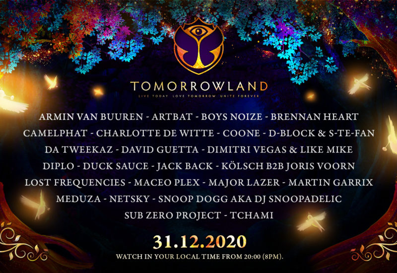 Tomorrowland 2021 New Year's Eve celebration