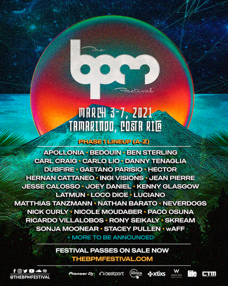 BPM Festival Costa Rica 2021 - phase-one lineup