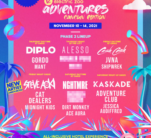 Electric Zoo Cancun 2021 lineup