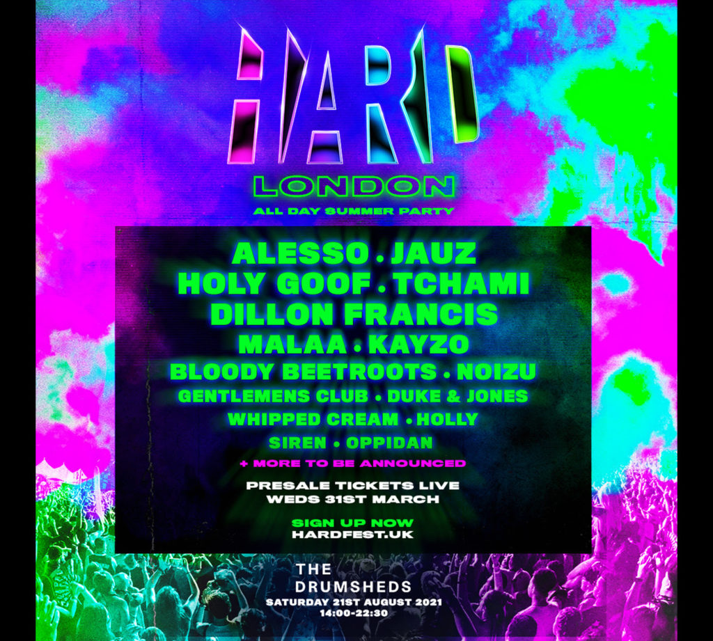 HARD London 2021 Lineup