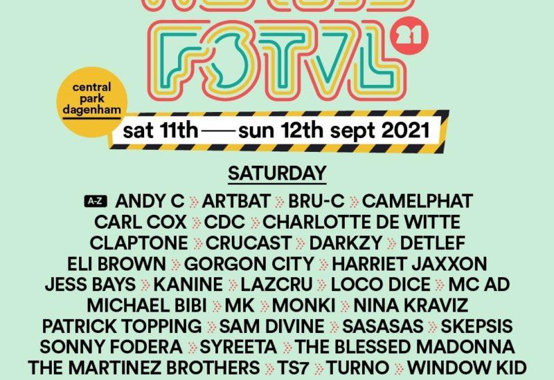 We Are FSTVL 2021 Saturday Lineup