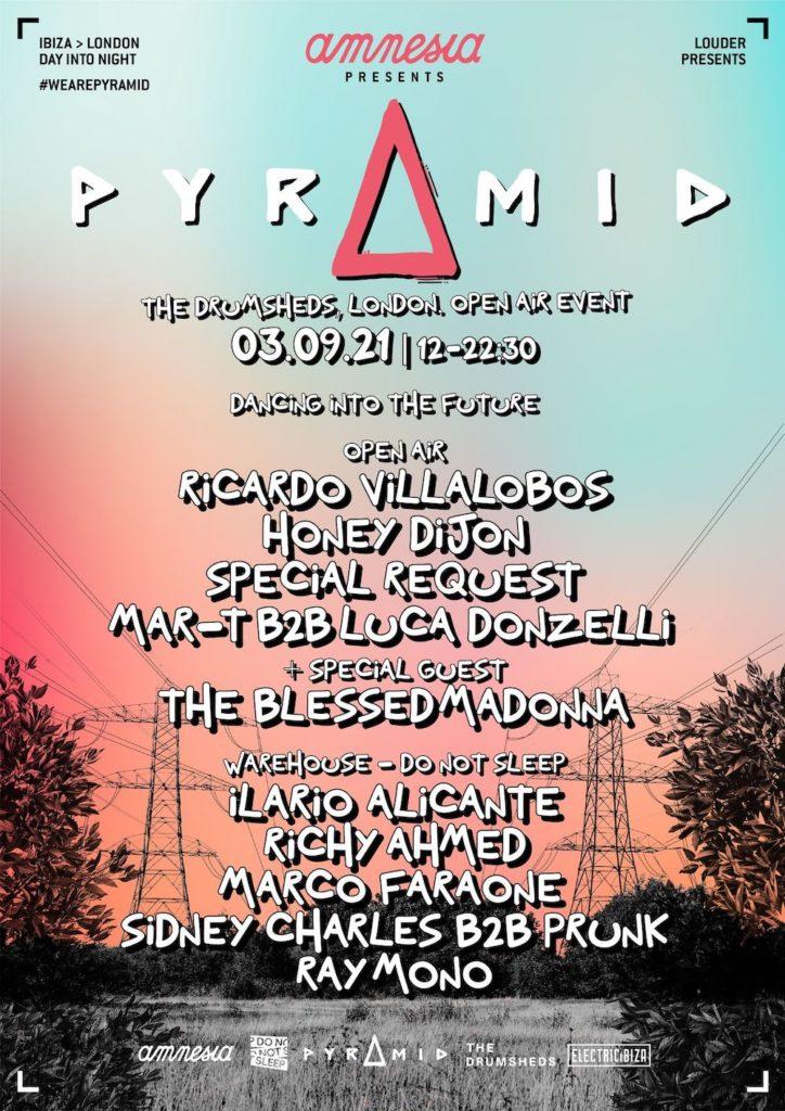Amnesia - Pyramid - Lineup