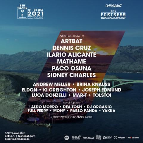 BSH Island Croatia 2021 Lineup
