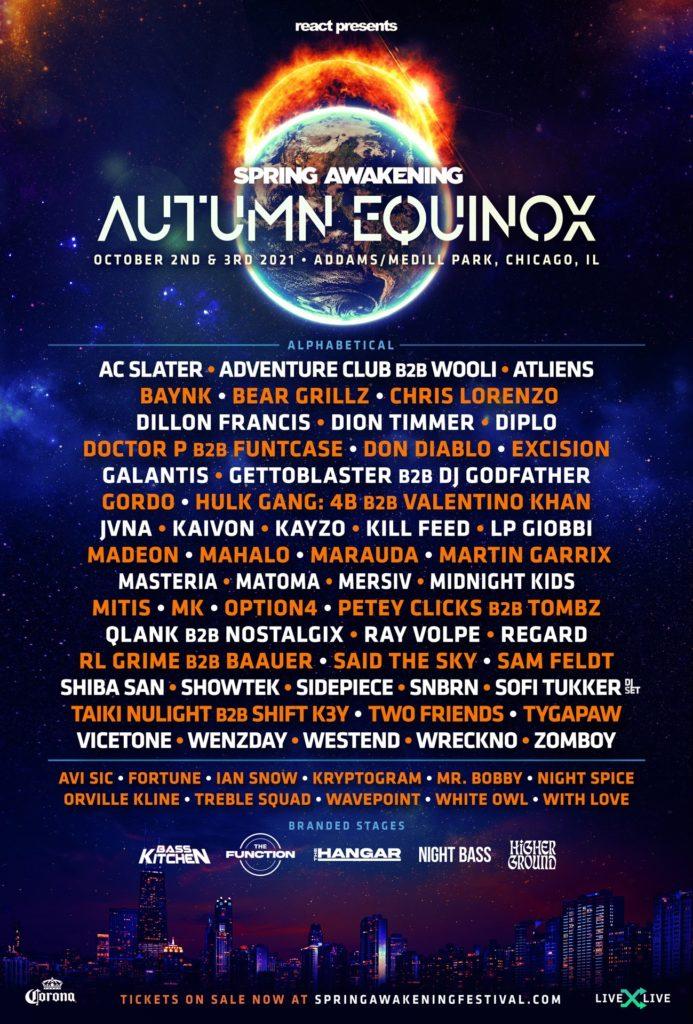 Spring Awakening Music Festival 2021 Lineup