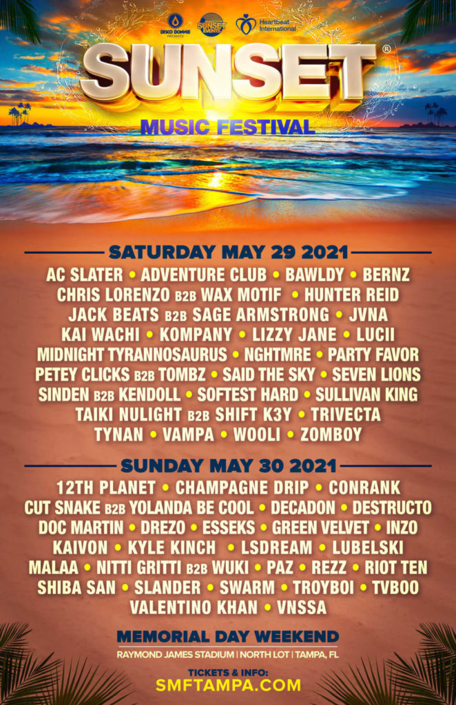 Sunset Music Festival 2021 - Daily Lineups