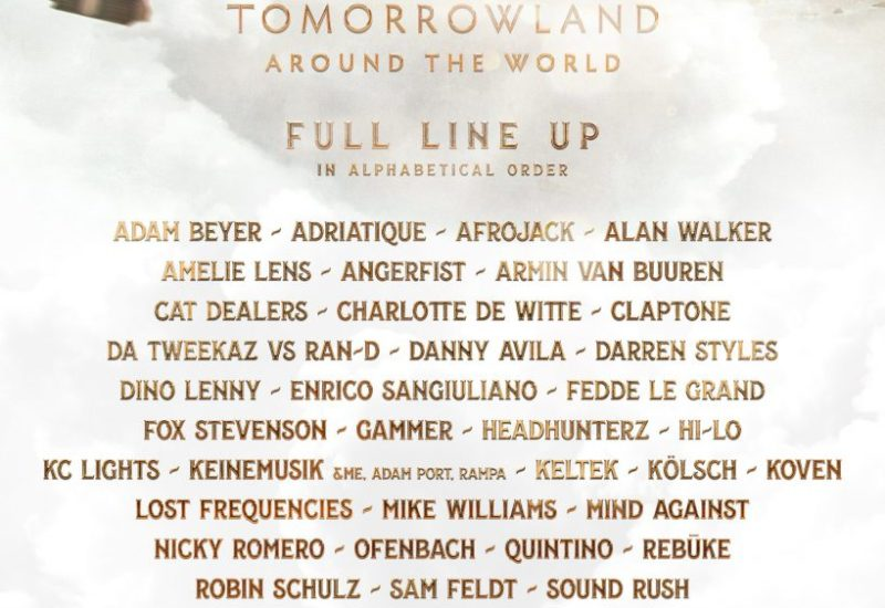 Tomorrowland Around The World 2021 lineup