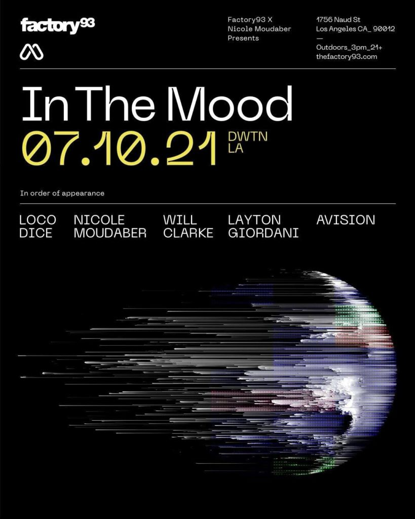 Nicole Moudaber - Factory 93 - In The Mood