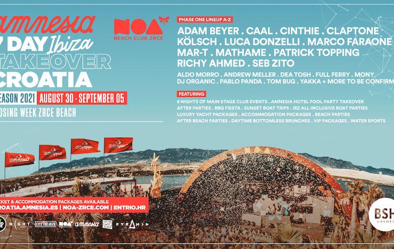Amnesia Ibiza 2021 Croatia Takeover