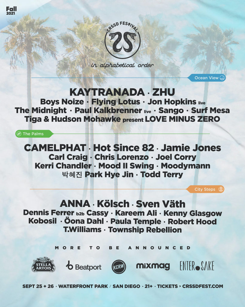 CRSSD Festival 2021 Phase-One Lineup