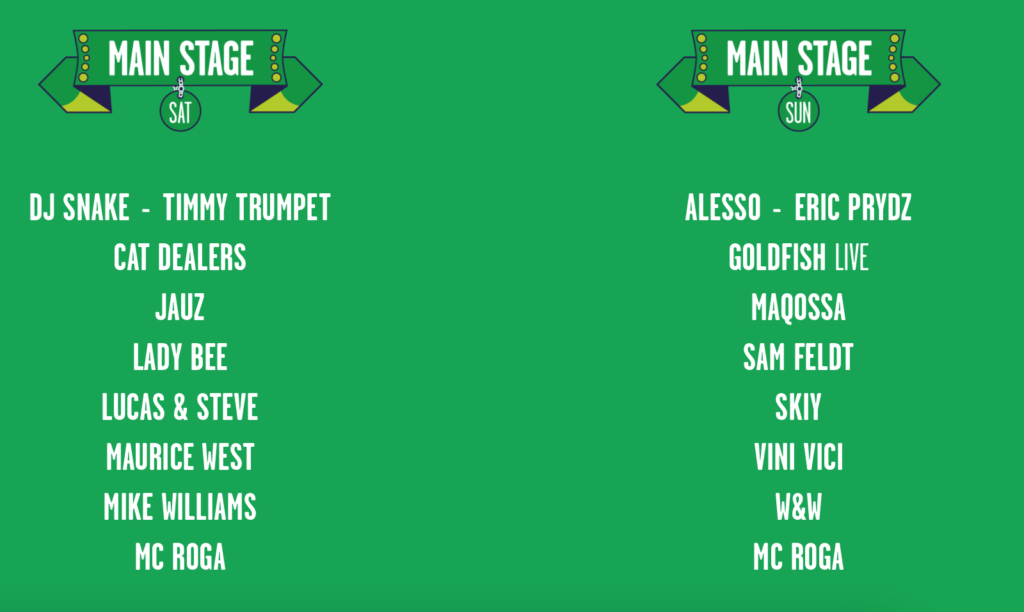 Mysterland 2021 Main Stage Lineup