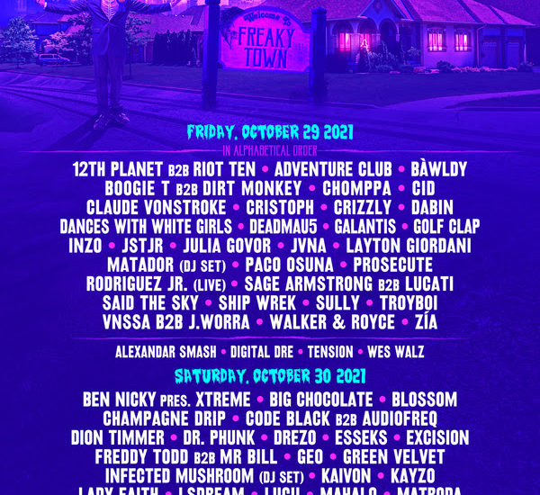 Freaky Deaky 2021 lineup by day