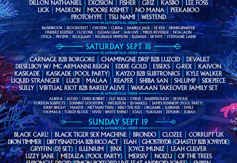 Imagine Music Festival 2021 Daily Lineups