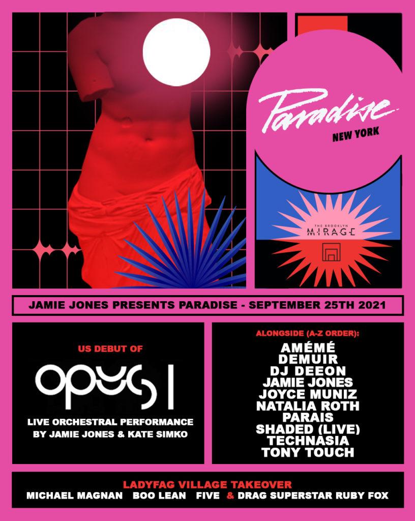 Jamie Jones Paradise Brooklyn